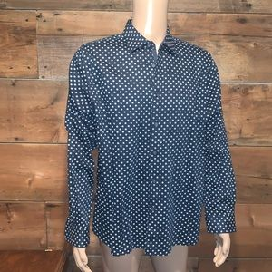 Ted Baker Mens Navy Dress shirt SZ.6
